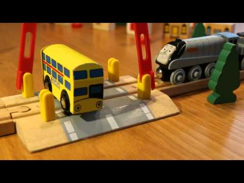 Thomas Wooden Railway level crossing crash