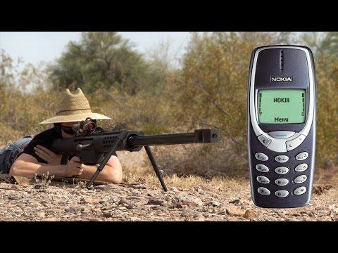『必看』傳說中的神機NOKIA 3310 對決阻擊槍!它擋得住嗎?