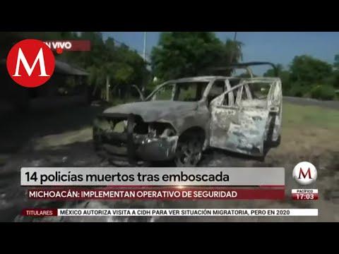 Así quedaron las patrullas de la policía tras emboscada en Aguililla, Michoacán