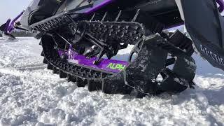 9. Arctic Cat 2019 Alpha One track articulation