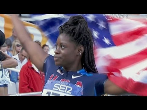American Morgan Snow wins Junior 100m hurdles - Universal Sports