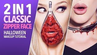 Classic zipper face makeup tutorial (with kit)