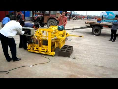 CHB making Machine, Concrete hollow block machine industry