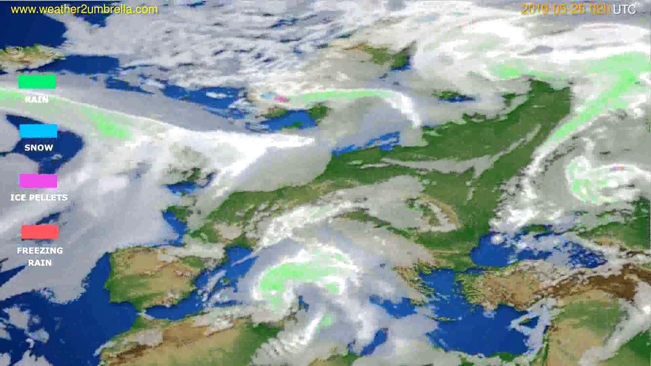 Precipitation forecast Europe // modelrun: 00h UTC 2019-05-24