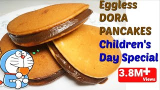 🍩3min में बनाये डोरा पैनकेक/ Eggless DORA PANCAKES Recipe in hindi/ How to make Dora Cakes/Pancakes