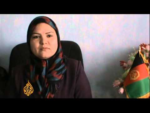 Locals honoured by first Afghan female district governor