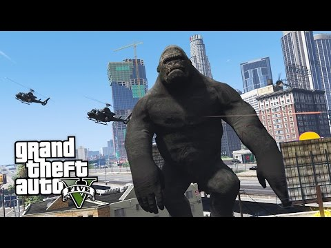GTA 5 Mods - ULTIMATE KING KONG MOD!! GTA 5 King Kong Mod Gameplay! (GTA 5 Mods Gameplay) (видео)