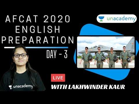 AFCAT 2020 English Preparation    AFCAT 2020   AFCAT 2020 Preparation   English by Lakhwinder Kaur
