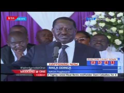 NASA leader Raila Odinga mourns his friend the late Interior CS Joseph Nkaissery's burial (видео)