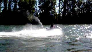8. Out on the Yamaha xlt1200 waverunner on a hot sunny day
