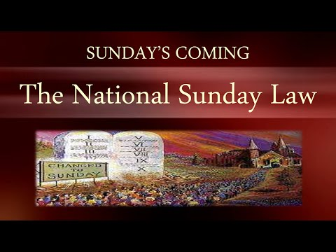 NEWS ALERT - Sunday's Coming - The National Sunday Law