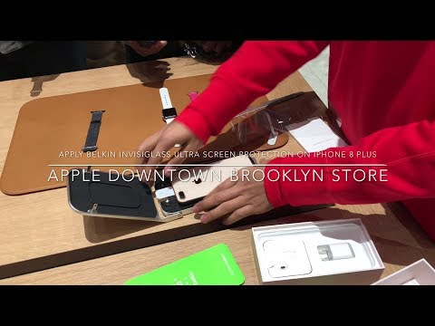 Apply Belkin InvisiGlass Screen Protection on iPhone 8 Plus in just 1min