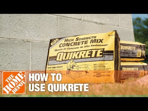 Concrete - Watch Associate Bob and Quikrete's Randy Williams demonstrate the different types of Quikrete Concrete mix, including ready-to-use, high early strength, crac...