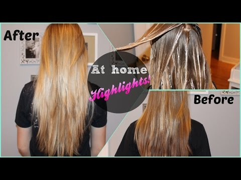 DIY at home highlights, Revlon Frost & Glow