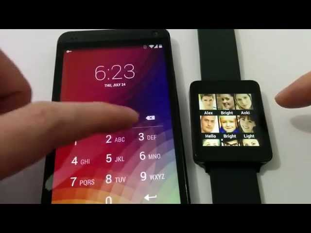 Speed Dial for Android Wear (Demo Run on LG G Watch and HTC One)