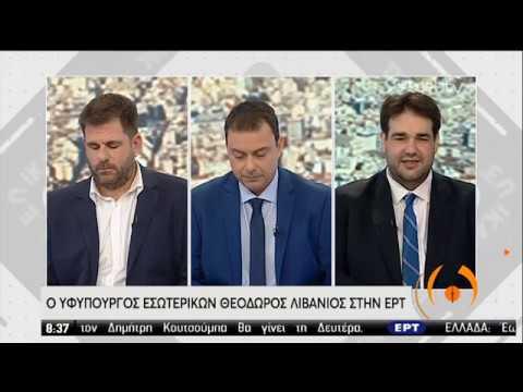 Ο υφυπουργός Εσωτερικών Θόδωρος Λιβάνιος στην ΕΡΤ | 10/01/2020 | ΕΡΤ