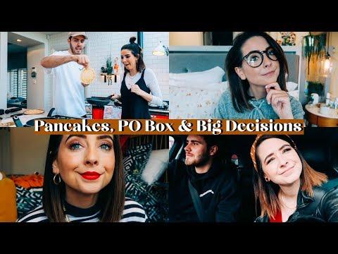 PANCAKES, P.O. BOX & BIG DECISIONS | WEEKLY VLOG видео