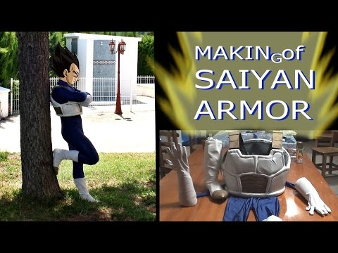 REAL homemade VEGETA Saiyan armor, (DIY)