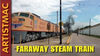 Faraway Steam Train