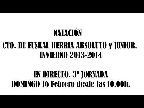 Natación Campeonato de Euskalherria Absoluto