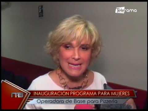 Inauguración programa para mujeres operadora de base para pizzería