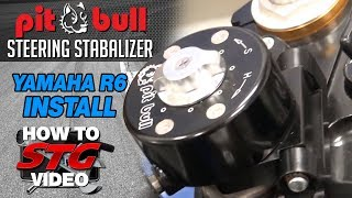 9. How to Install a Pit Bull Steering Stabilizer on a 2008 Yamaha YZF-R6 from Sportbiketrackgear.com