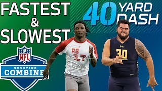 Download Youtube: Top 5 Fastest & Slowest 40-Yard Dash Times Since 2008 | NFL Combine Highlights
