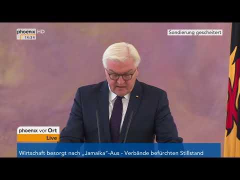 Frank-Walter Steinmeier zum Auftrag der Regierungsbildung am 20.11.17