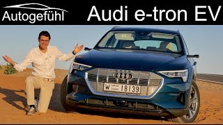 Video Audi e-tron FULL REVIEW etron EV road driving range vs offroad vs recuperation comparison MP3, 3GP, MP4, WEBM, AVI, FLV Agustus 2019