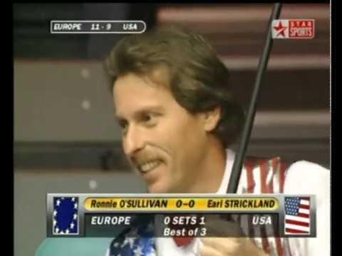 Ronnie O'Sullivan vs Earl Strickland 1996 Mosconi Cup HD