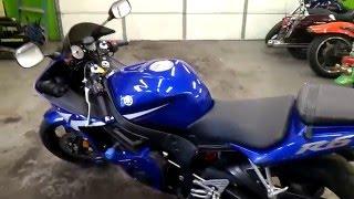9. 2003 Yamaha YZF-R6 walkaround and start