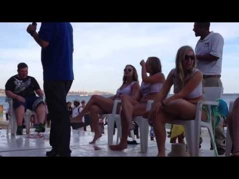 contest - Video of wet t-shirt contest at Mango Deck in Cabo San Lucas on April 22, 2013.