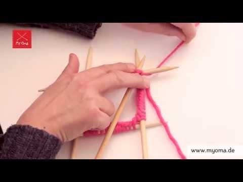 Stricken lernen mit den Omas – DIY Beanie Mütze für Anfänger 2/7: Zur Runde schließen