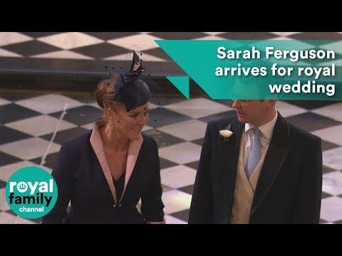 Sarah Ferguson arrives for the wedding of Prince Harry and Meghan Markle