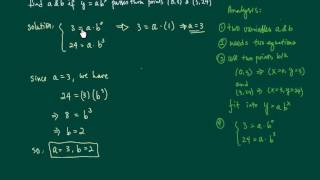 Here I explain the process behind finding an exponential equation given certain points
