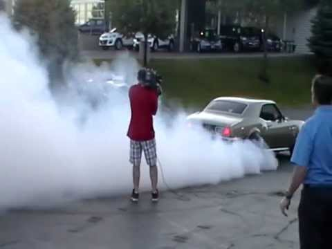 Camaro's burnout gets busted by the cops
