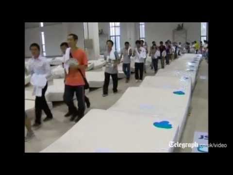 China Bags Guinness Record for Mattress Dominoes picture