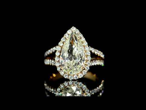 AGS Certified 5.023ct Pear Brilliant Cut Diamond Ring