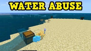 How To ABUSE WATER In The Minecraft Update Aquatic (1.13)