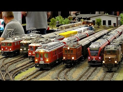 SCALE MODEL TRAINS RAILWAYS MODEL RAILROAD TRACK G PRESENTATION / Intermodellbau Dortmund 2016