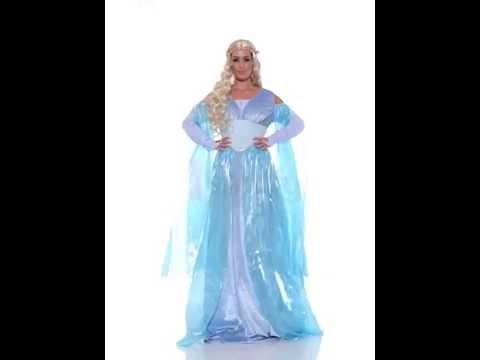 Deguisement bleu de princesse medievale