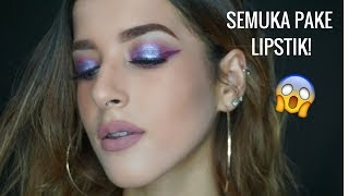 Download Video FULL FACE USING LIQUID LIPSTICK CHALLENGE! MP3 3GP MP4
