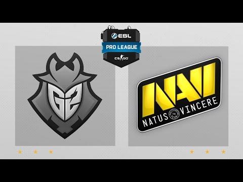 CS:GO - G2 vs. NaVi [Dust2] Map 1 - ESL Pro League Season 4 - Matchday 3
