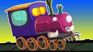 melatih untuk anak-anak | cuci mobil Video | halloween kendaraan | Kids Toy Train | Train Carwash
