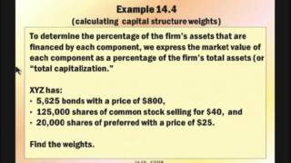 Financial Management: Lecture 9, Chapter 14 - Cost Of Capital