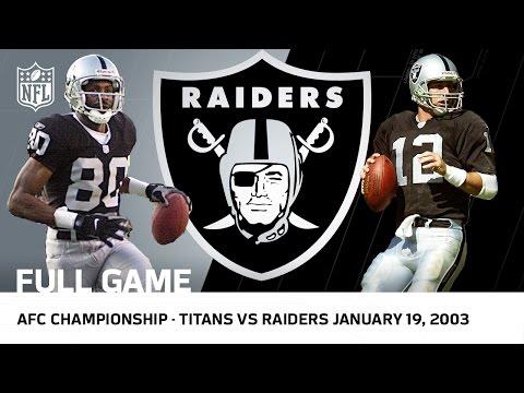 Titans vs. Raiders 2002 AFC Championship Game   NFL Full Game