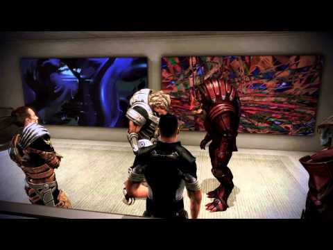 Wrex - Grunt and Wrex fighting in the Mass Effect 3 Citadel DLC.