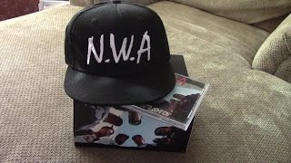 N.W.A. - Straight Outta Compton CD and Hat UNBOXING : Justin Galluccio
