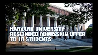 Ten students had their admission offers to Harvard University rescinded after posting inflammatory memes on social media. (Herald video by Vishakha Mathur)