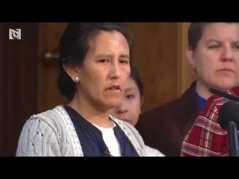 This undocumented mother of three struggling to hold back tears as she fights to stay in the U.S.